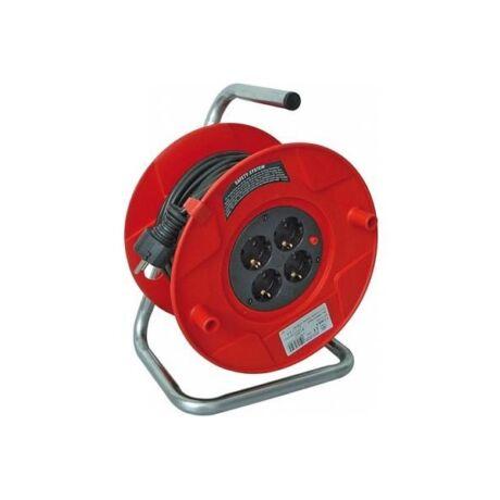 BRENNENSTUHL BAT Műanyag kábeldob piros beltéri (H05VV-F 3G1,5) - 4 x 1,5/25 m