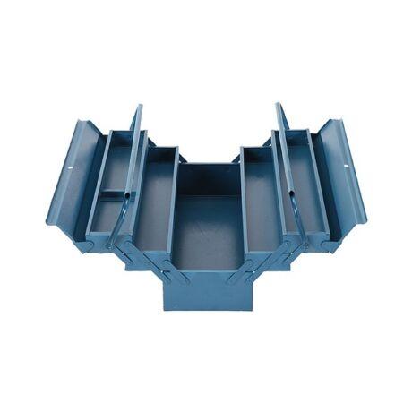 STR Fém szerszámosláda - 430x200x210 mm/5 db rekesz