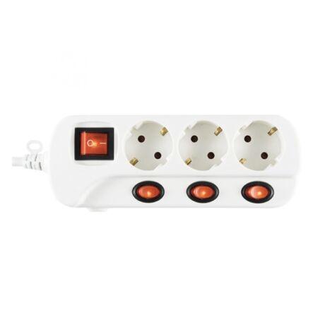 HOME NVK 03K-3/WH/1,5 Hálózati elosztó fehér - 3 db/3,0 m