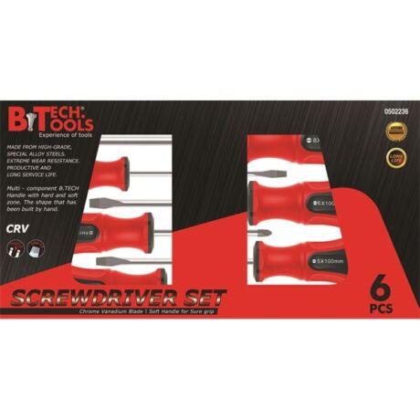 B.TECH Mágneses csavarhúzó készlet - PH+SL/ 6 részes