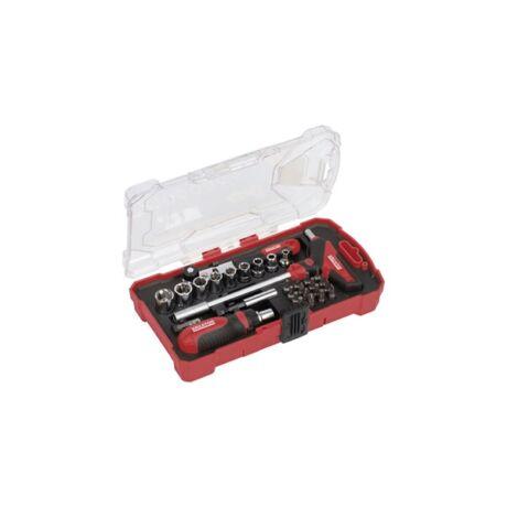 KREATOR Dugókulcs és bit készlet racsnis (KRT400009) - 29 részes