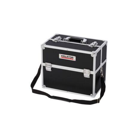 KREATOR Szerszámkoffer alumínium/fekete (KRT640301B) - 360x230x300 mm
