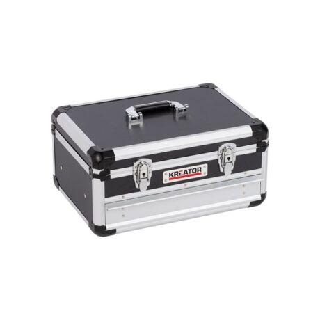 KREATOR Szerszámkoffer alumínium/fekete (KRT640601B) - 420x300x205 mm/1 db fiók
