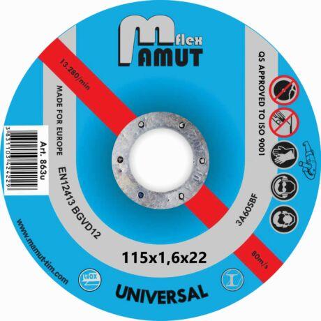 MAMUT TIM VÁGÓKORONG - ECONOMIC-UNIVERZÁLIS/115x1,6x22 mm