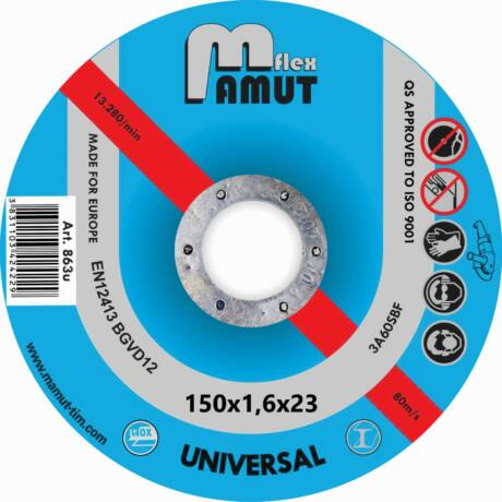 MAMUT TIM VÁGÓKORONG - ECONOMIC-UNIVERZÁLIS/150x1,6x23 mm
