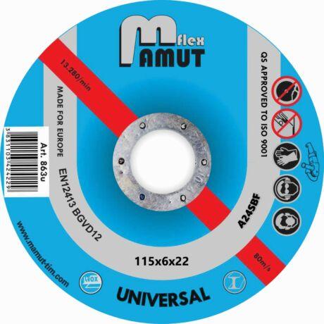MAMUT TIM VÁGÓKORONG - ECONOMIC-UNIVERZÁLIS/115x6x22 mm