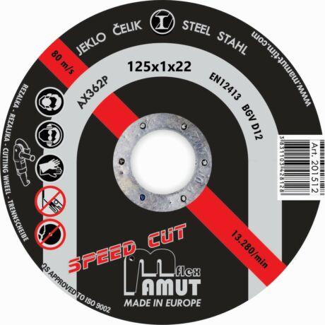 MAMUT TIM VÁGÓKORONG - PROFI-ACÉL SPEED CUT/125x1x22 mm