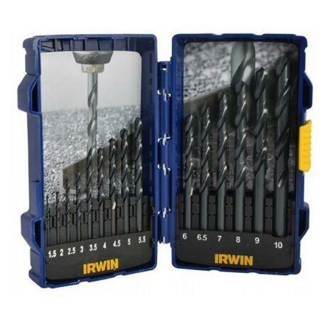 IRWIN Csigafúró készlet HSS - 1,5-10 mm/15 részes
