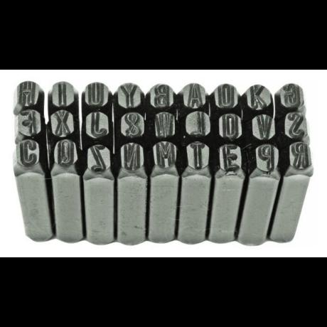 Betű beütő készlet - 6 mm