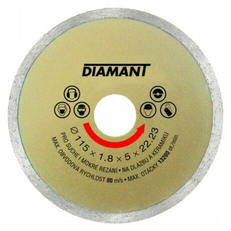 DIAMANT Gyémánt vágótárcsa folytonos - 115x1,8x5x22,2