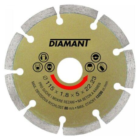 DIAMANT Gyémánt vágótárcsa szegmentált- 115x1,8x5x22,2