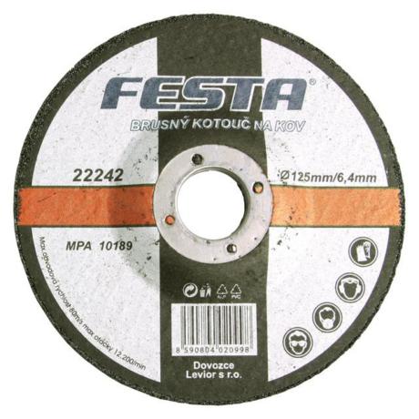 FESTA Tisztítókorong - fém/125x6,4x22,2