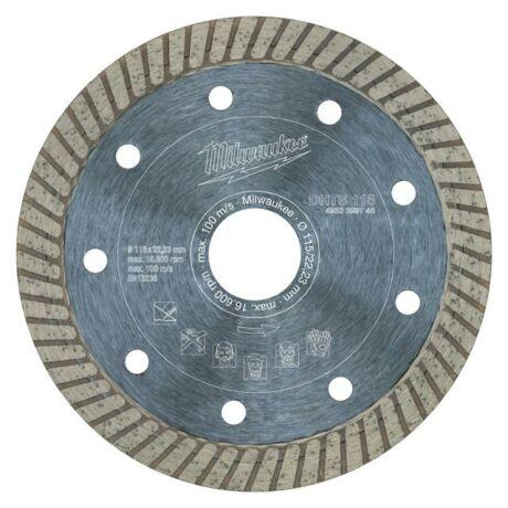 MILWAUKEE TURBO Gyémánt vágótárcsa - 115x1,2x22,2