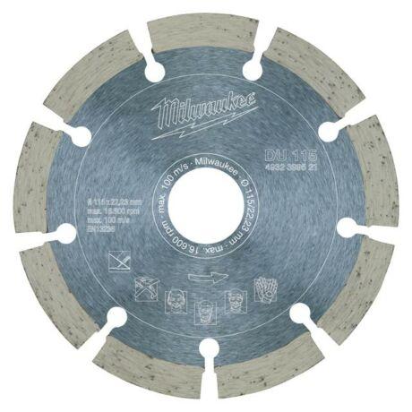 MILWAUKEE Gyémánt vágótárcsa szegmentált - 115x2,2x22,2