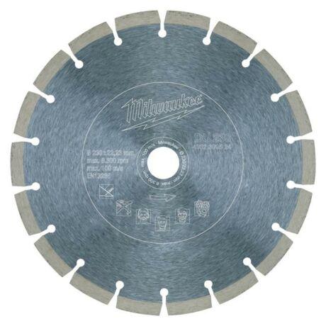 MILWAUKEE Gyémánt vágótárcsa szegmentált - 230x2,6x22,2