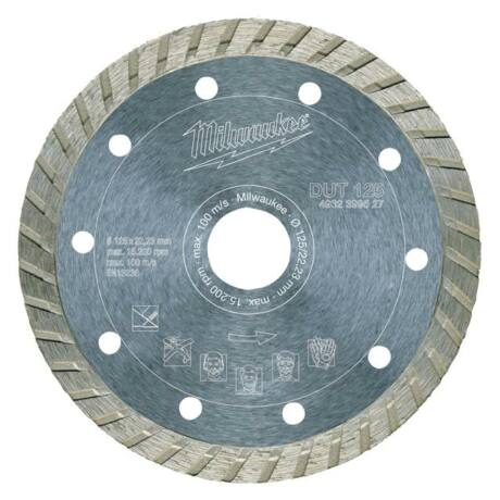 MILWAUKEE TURBO Gyémánt vágótárcsa - 125x2,3x22,23