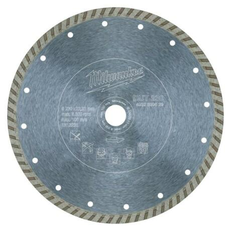 MILWAUKEE TURBO Gyémánt vágótárcsa - 230x2,6x22,2