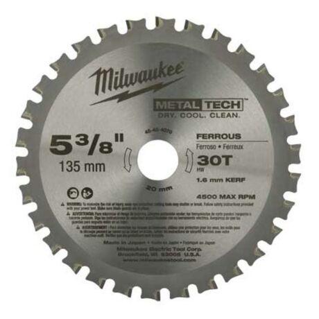 MILWAUKEE Fűrésztárcsa alumíniumhoz - 135x1,6x20x50