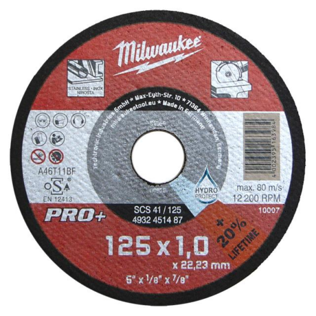 MILWAUKEE Vágókorong - INOX/180x1,5x22,2