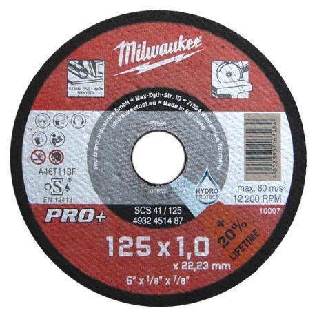 MILWAUKEE Vágókorong - fém/125x3,0x22,2