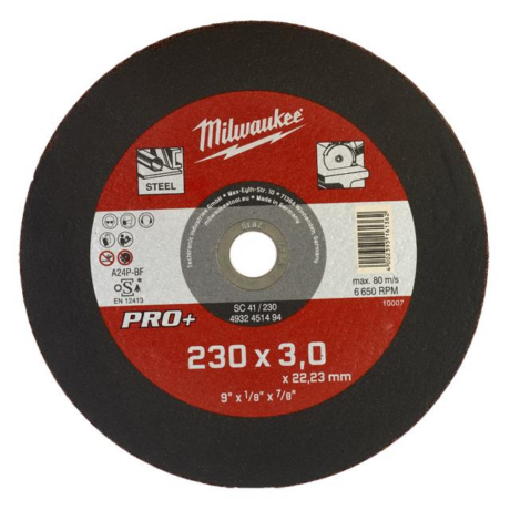 MILWAUKEE Vágókorong - fém/230x3,0x22,2