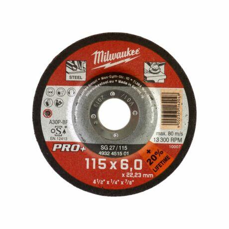 MILWAUKEE Tisztítókorong - fém/115x6,0x22,2