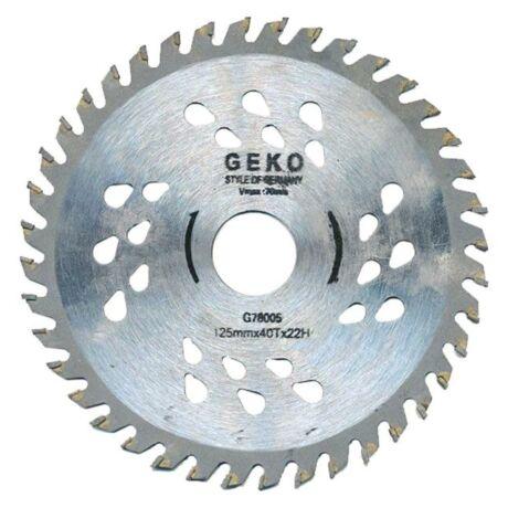 GEKO COOL TCT Fűrésztárcsa fához vídiás - 125x22x40