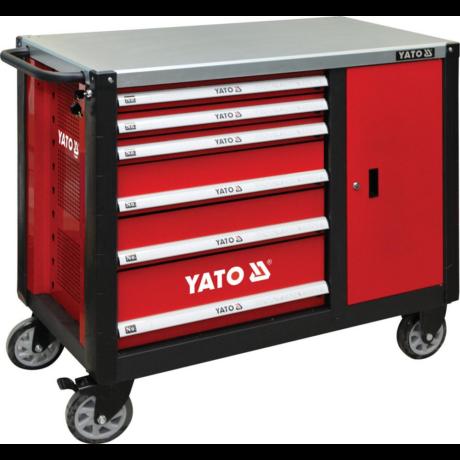 YATO Szerszámkocsi (YT-09002) - 6+1 fiókos/üres