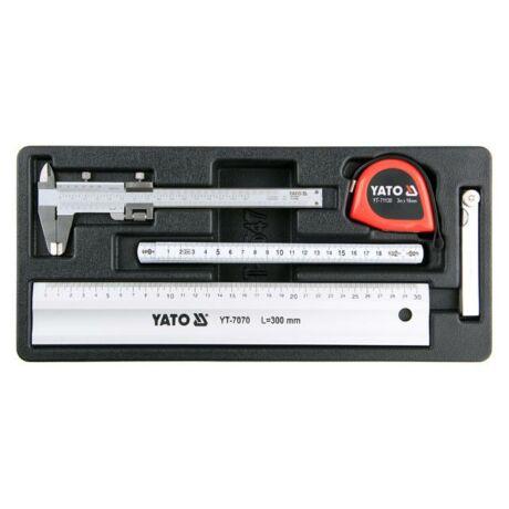 YATO Mérőeszköz készlet - 5 részes (fiókbetét)