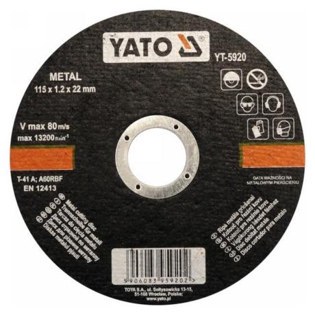 YATO Vágókorong - fém/115x1,2x22