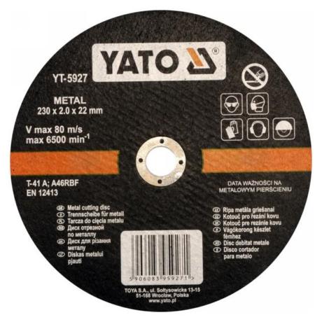 YATO Vágókorong - fém/230x2,0x22