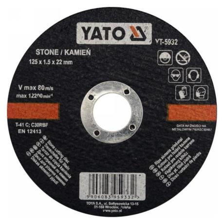 YATO Vágókorong - kő/125x1,5x22