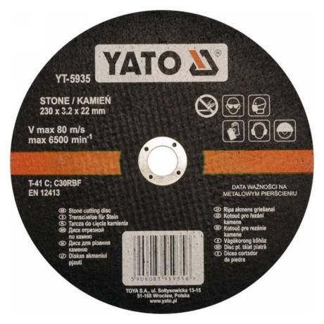 YATO Vágókorong - kő/230x3,2x22
