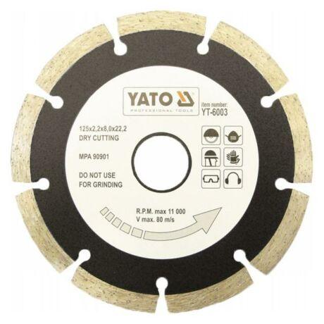 YATO Gyémánt vágótárcsa szegmentált - 125x2,2x8,0x22,2
