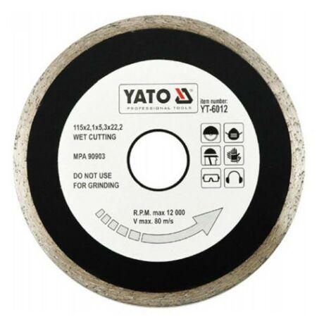 YATO Gyémánt vágótárcsa folytonos - 115x2,1x5,3x22,2
