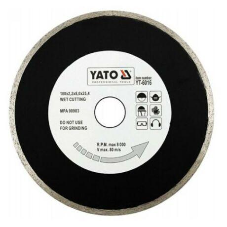 YATO Gyémánt vágótárcsa folytonos - 180x2,2x8,0x25,4