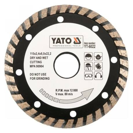 YATO TURBO Gyémánt vágótárcsa - 230x3,1x8,0x22,2
