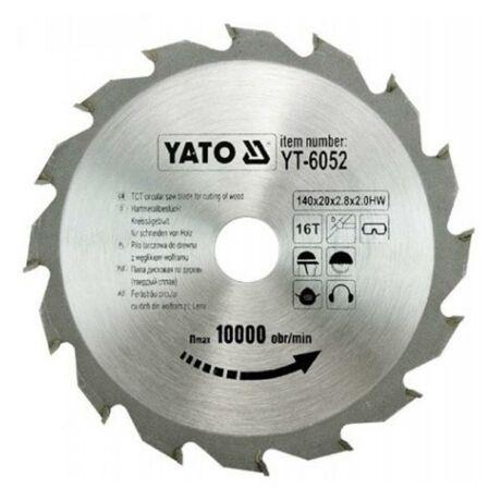 YATO TCT Fűrésztárcsa fához vídiás - 140x2,0x20x16 HW