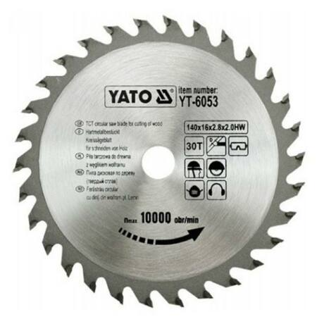 YATO TCT Fűrésztárcsa fához vídiás - 140x2,0x16x30 HW