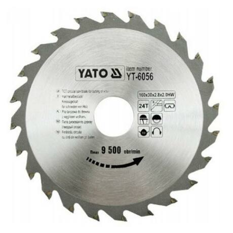 YATO TCT Fűrésztárcsa fához - 160x2,2x30x24 HW