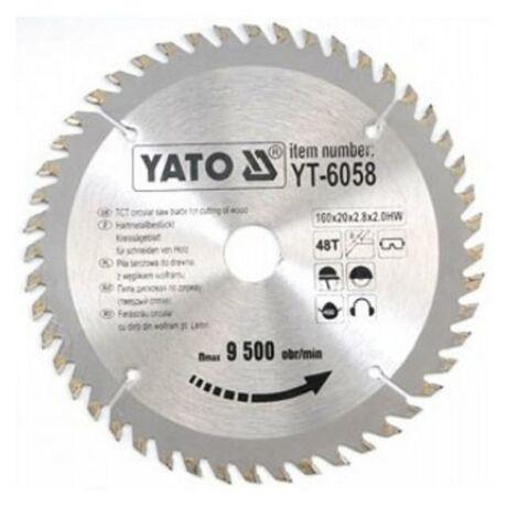 YATO TCT Fűrésztárcsa fához - 160x2,2x20x48 HW