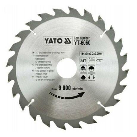 YATO TCT Fűrésztárcsa fához vídiás - 184x2,2x30x24 HW