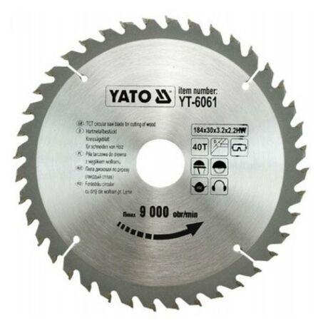 YATO TCT Fűrésztárcsa fához vídiás - 184x2,2x30x40 HW