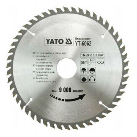 YATO TCT Fűrésztárcsa fához vídiás - 184x2,2x30x50 HW