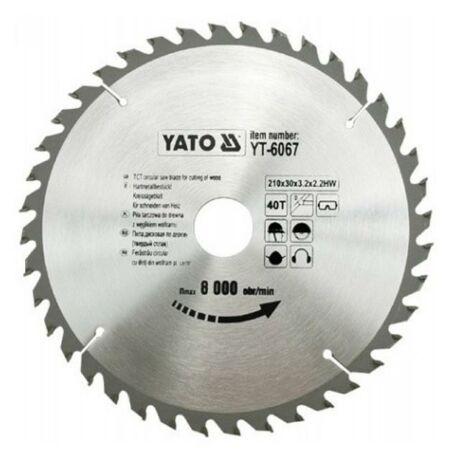 YATO TCT Fűrésztárcsa fához vídiás - 210x2,2x20x18 HW