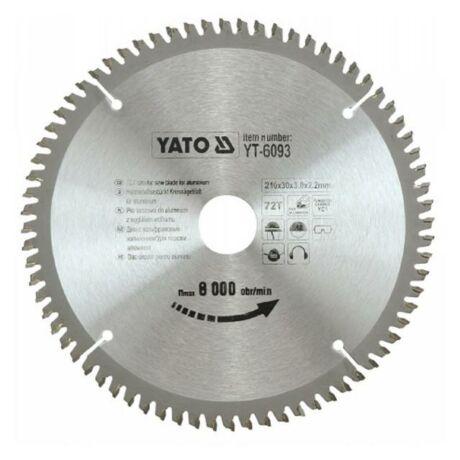 YATO TCT Fűrésztárcsa alumíniumhoz - 210x2,2x30x72 HW