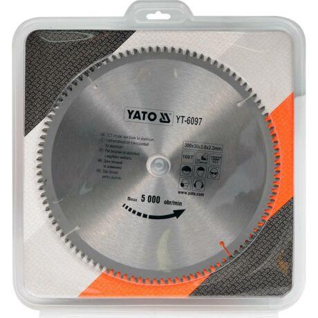 YATO TCT Fűrésztárcsa alumíniumhoz - 300x2,2x30x100 HW