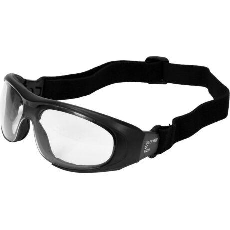 YATO védőszemüveg gumipánttal és szárral - víztiszta