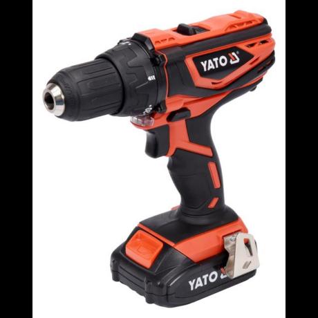 YATO Akkumulátoros fúrócsavarozó (akkumulátor + töltő) - 18 V/2,0 Ah