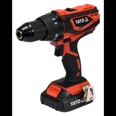 YATO Akkumulátoros ütvefúró-csavarozó (akkumulátor + töltő) - 18 V/2,0 Ah